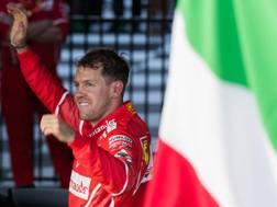 Sebastian Vettel, trionfatore con la Ferrari a Melbourne. Lapresse
