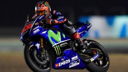 Maverick Vinales in azione con la Yamaha. Epa
