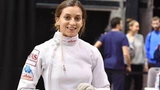 Rossella Fiamingo, argento olimpico nella spada.