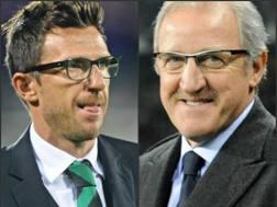 Eusebio Di Francesco e Gigi Delneri, tecnici di Sassuolo e Udinese