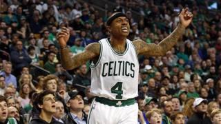 Isaiah Thomas dei Boston Celtics. Reuters