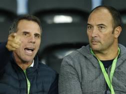 Gianfranco Zola, tecnico del Birmingham, e Pierluigi Casiraghi, suo vice. Reuters
