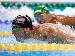 Phelps con Le Clos nei 200 farfalla ai Giochi di Rio GETTY