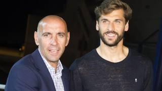 Monchi con Fernando Llorente.