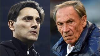 Da sinistra Vincenzo Montella, 42 anni, e Zdenek Zeman, 69.