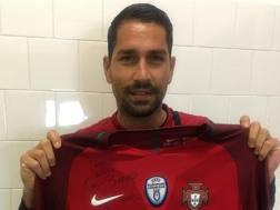 Marco Borriello, 34 anni, attaccante del Cagliari. Foto da Instagram