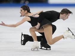 Valentina Marchei e Ondrej Hotarek in azione. Ap