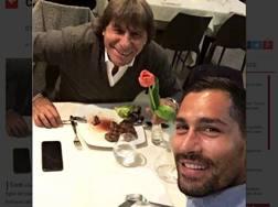 Bruno Conti nel selfie di Marco Borriello