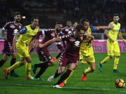 Andrea Belotti contro il Chievo. Getty
