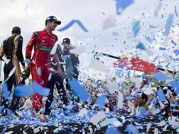 Lucas Di Grassi , 32 anni, a febbraio sul podio di Buenos Aires in Formula E. Getty