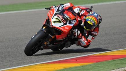 Chaz Davies in azione con la Ducati