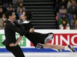 Anna Cappellini e Luca Lanotte in azione. Reuters
