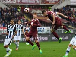 Andrea Belotti, 22 anni, segna il gol del pareggio.