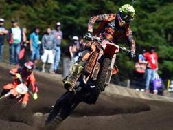 Antonio Cairoli in azione sulla sua KTM