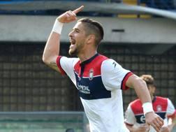 Diego Falcinelli, 25 anni, attaccante del Crotone. Getty