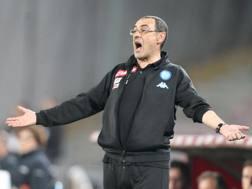 Maurizio Sarri, 58 anni, seconda stagione al Napoli. Afp