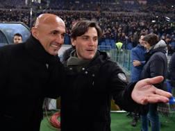 Luciano Spalletti e Vincenzo Montella. LaPresse