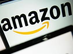 Il logo di Amazon. Afp
