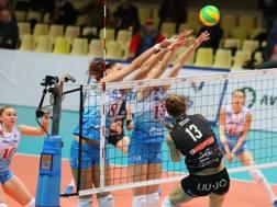 Una fase di Dinamo Mosca-Modena CEV.LU