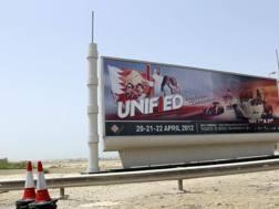 Attivisti alla carica per i diritti umani in Bahrain. Lapresse