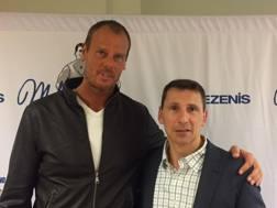 Mike Iuzzolino col suo ex compagno di squadra Matteo Nobile