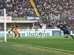 Il gol di Cristante che vale il pareggio. Ansa