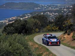 Thierry Neuville in testa in Corsica. Getty