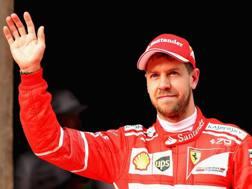 Sebastian Vettel in prima fila anche a Shanghai. Getty