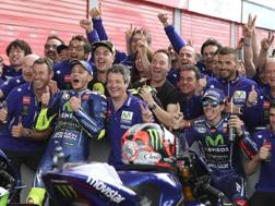 Festa Yamaha con Rossi e Viñales. Ap