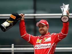 Sebastian Vettel secondo in Cina con la Ferrari. Getty