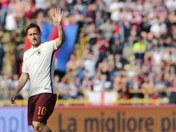 Francesco Totti al Dall'Ara di Bologna. Ansa
