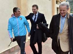 Sorrisi, nel passato, tra Lopez e Baccaglini (con Zamparini sulla destra). Getty