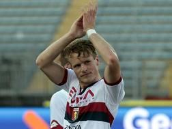 Oscar Hiljemark, 24 anni, passato a gennaio dal Palermo al Genoa. Getty Images