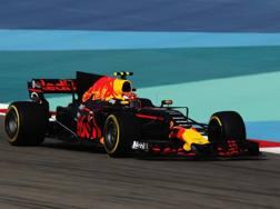 Max Verstappen in azione con la sua Red Bull. Getty