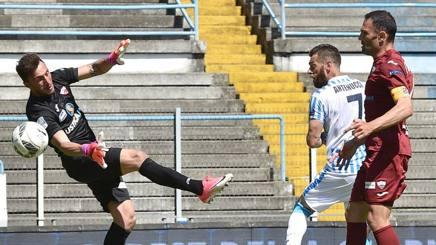 Il gol del 2-1 di Mirco Antenucci. LaPresse