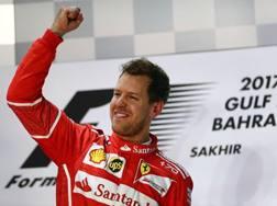 Sebastian Vettel, terza stagione alla Ferrari. LaPresse