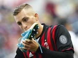 Gerard Deulofeu, attaccante spagnolo del Milan. LaPresse
