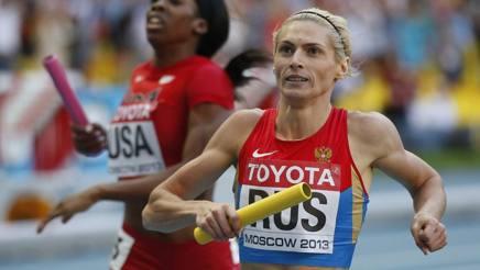 Antonina Krivoshapka, 29 anni, ai Mondiali di Mosca 2013 AP