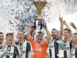 La festa scudetto della Juventus nel 2016. Ansa