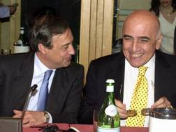 Florentino Perez e Adriano Galliani a pranzo insieme nel 2001. Ap
