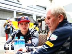 Helmut Marko a colloquio con Max Verstappen GETTY
