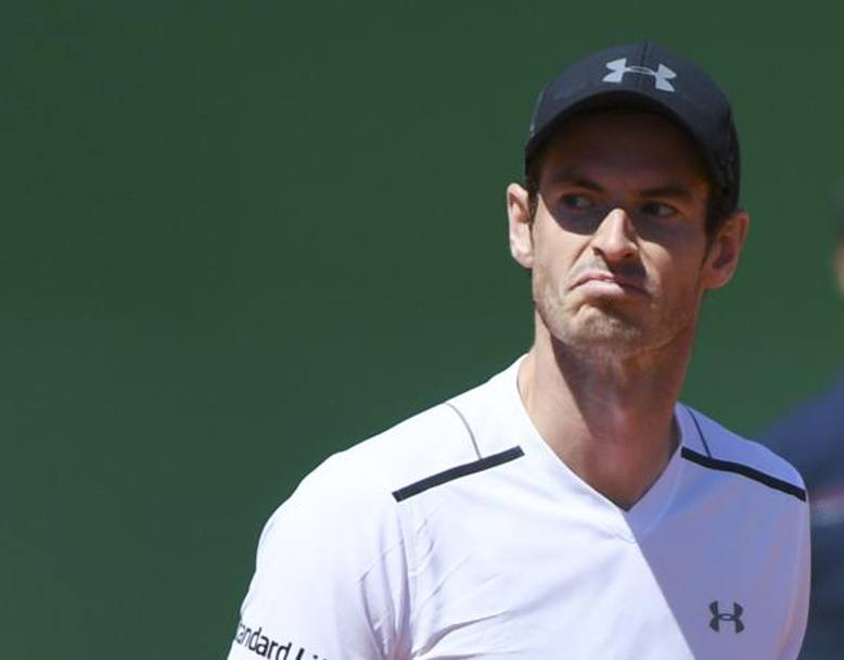 Andy Murray perplesso nel match contro Ramos AFP