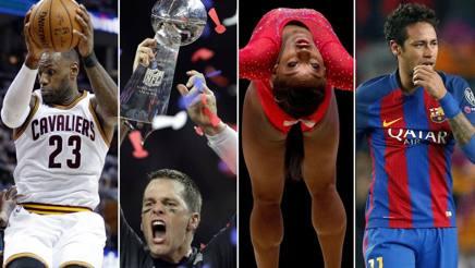 LeBron James, Tom Brady, Simon Biles, Neymar