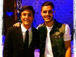 Da sinistra, Javier Adelmar Zanetti, 43 anni, vicepresidente dell'Inter, e Mauro Emanuel Icardi Rivero, 24.