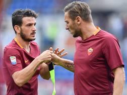 Alessandro Florenzi e Francesco Totti. Lapresse