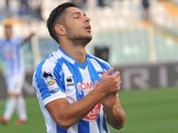 Gianluca Caprari, 23 anni, attaccante del Pescara. LaPresse