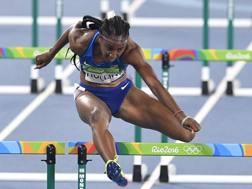Brianna Rollins, 25 anni, campionessa olimpica a Rio 2016 e in precedenza oro mondiale a Mosca 2013. Ap