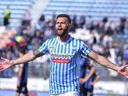 Mirco Antenucci, ancora in gol per la Spal. LaPresse