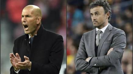 Zinedine Zidane e Luis Enrique