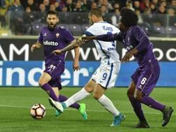 Mauro Icardi segna il gol del 2-1 interista. Afp